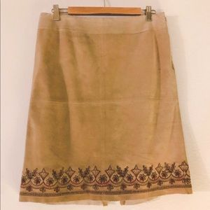 LOFT Skirts - Loft ❤️ Suede skirt with embroidery